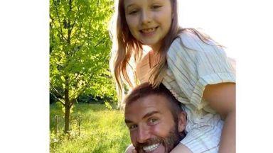 Дейвид Бекъм с трогателен поздрав за рождения ден на дъщеря си