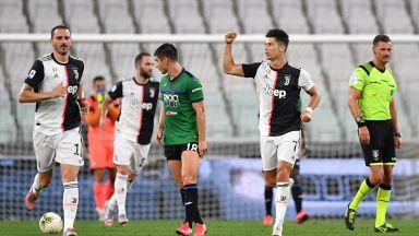 Две дузпи на Роналдо спасиха Юве от домакинска загуба
