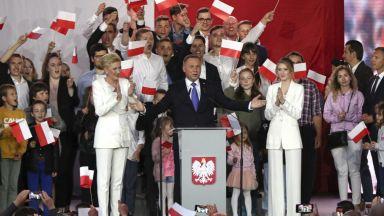 Действащият полски президент Анджей Дуда печели изборите с минимална преднина