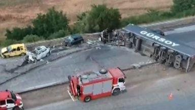 """40 млн. лева за нови мантинели на критичен участък от АМ """"Тракия"""""""