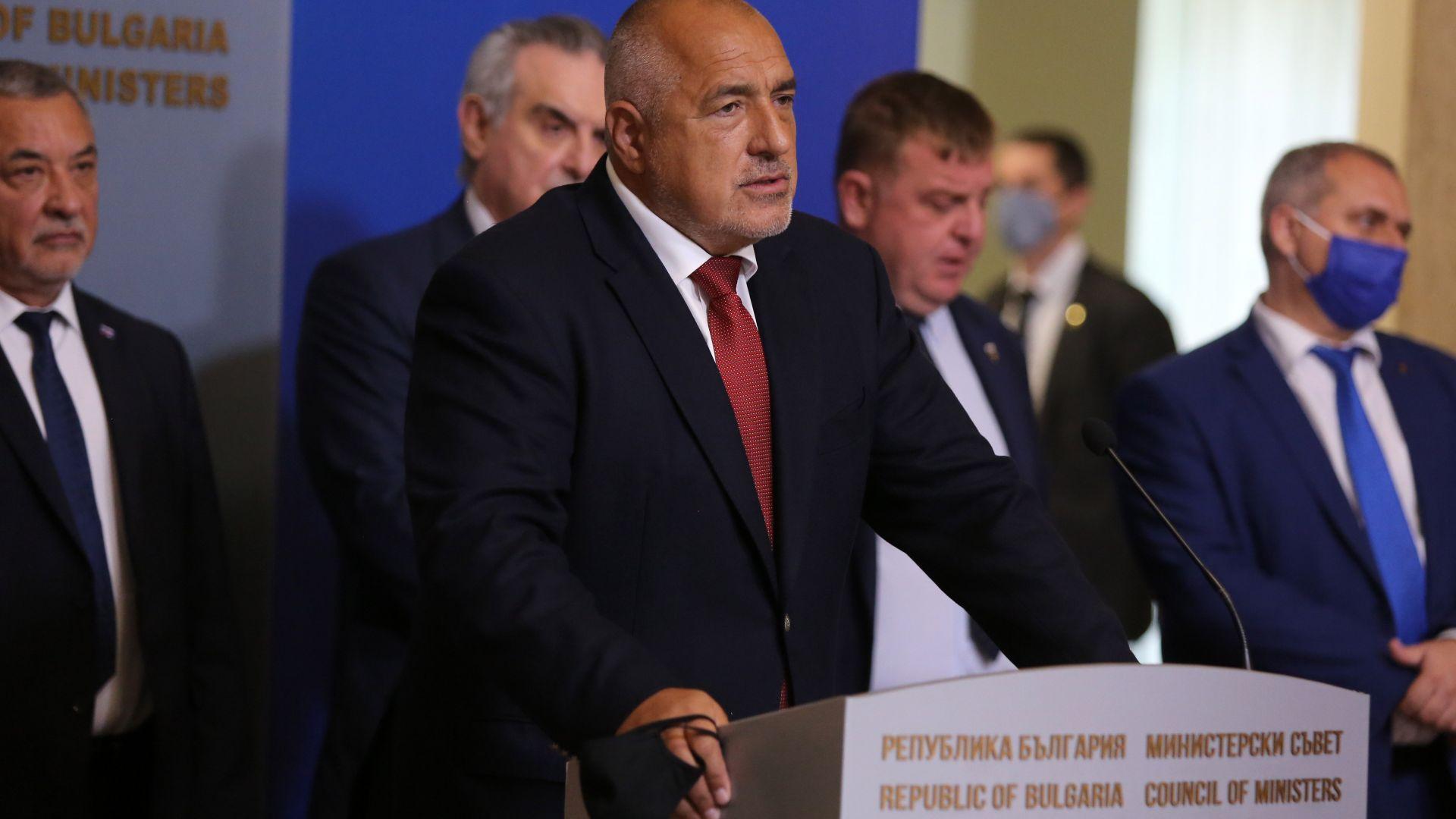 Борисов, Каракачанов и Симеонов обсъдиха кадровите промени в правителството