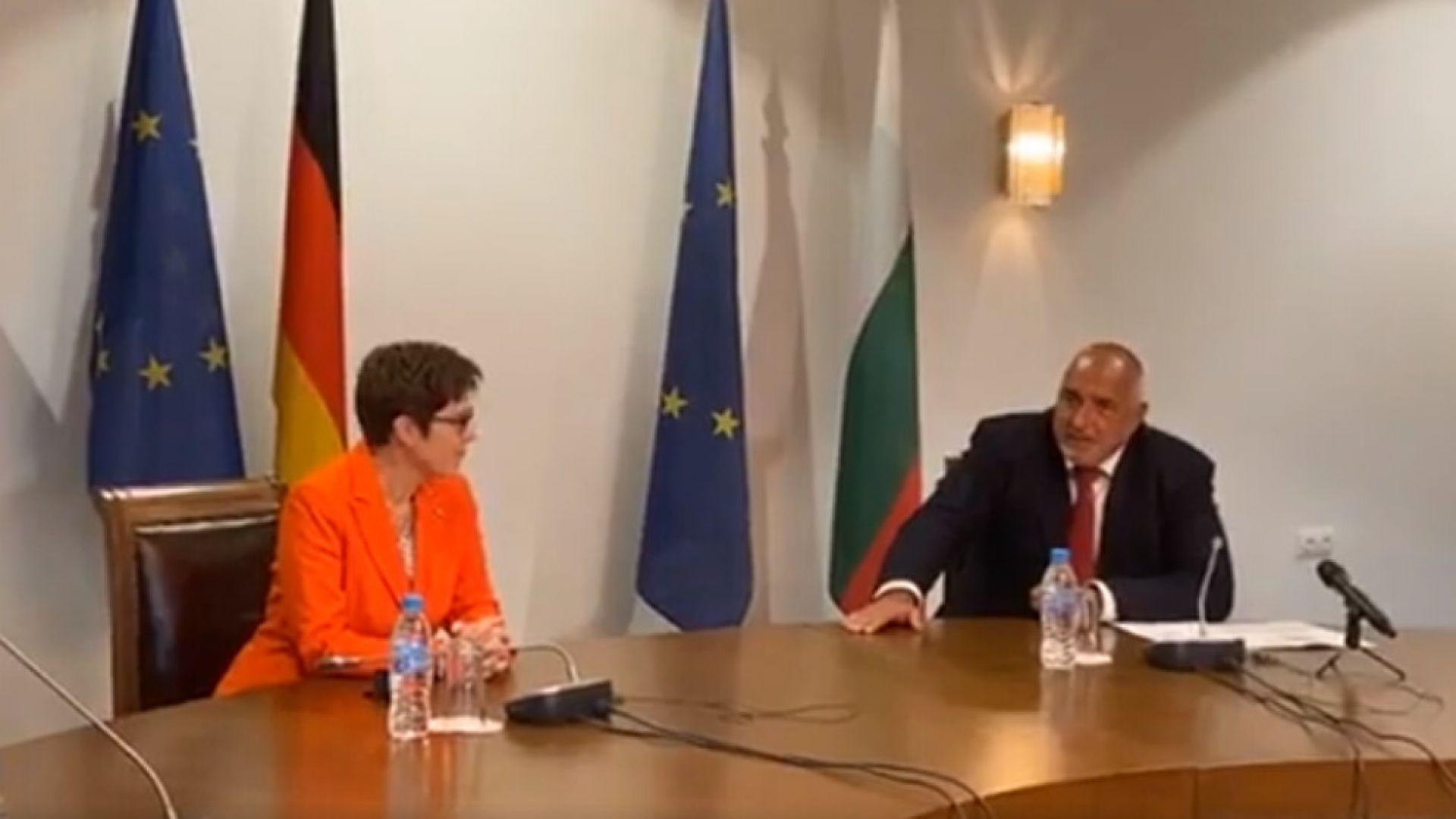 Борисов пред Анегрет Крамп-Каренбауер: Подготвяме закон, за да няма никакви съмнения в медийната среда