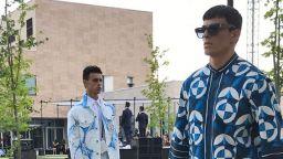 Dolce&Gabbana с мъжка колекция в синьо, бяло и черно