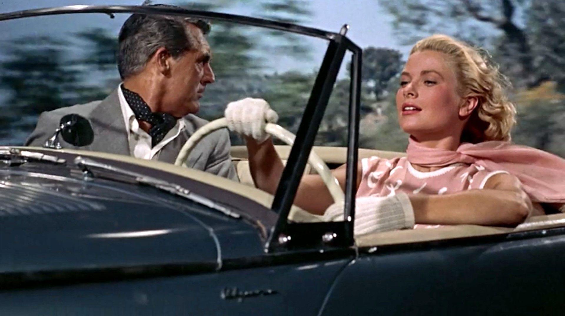 """Кадър от филма на Алфред Хичкок """"Да хванеш крадец"""" (1955)"""