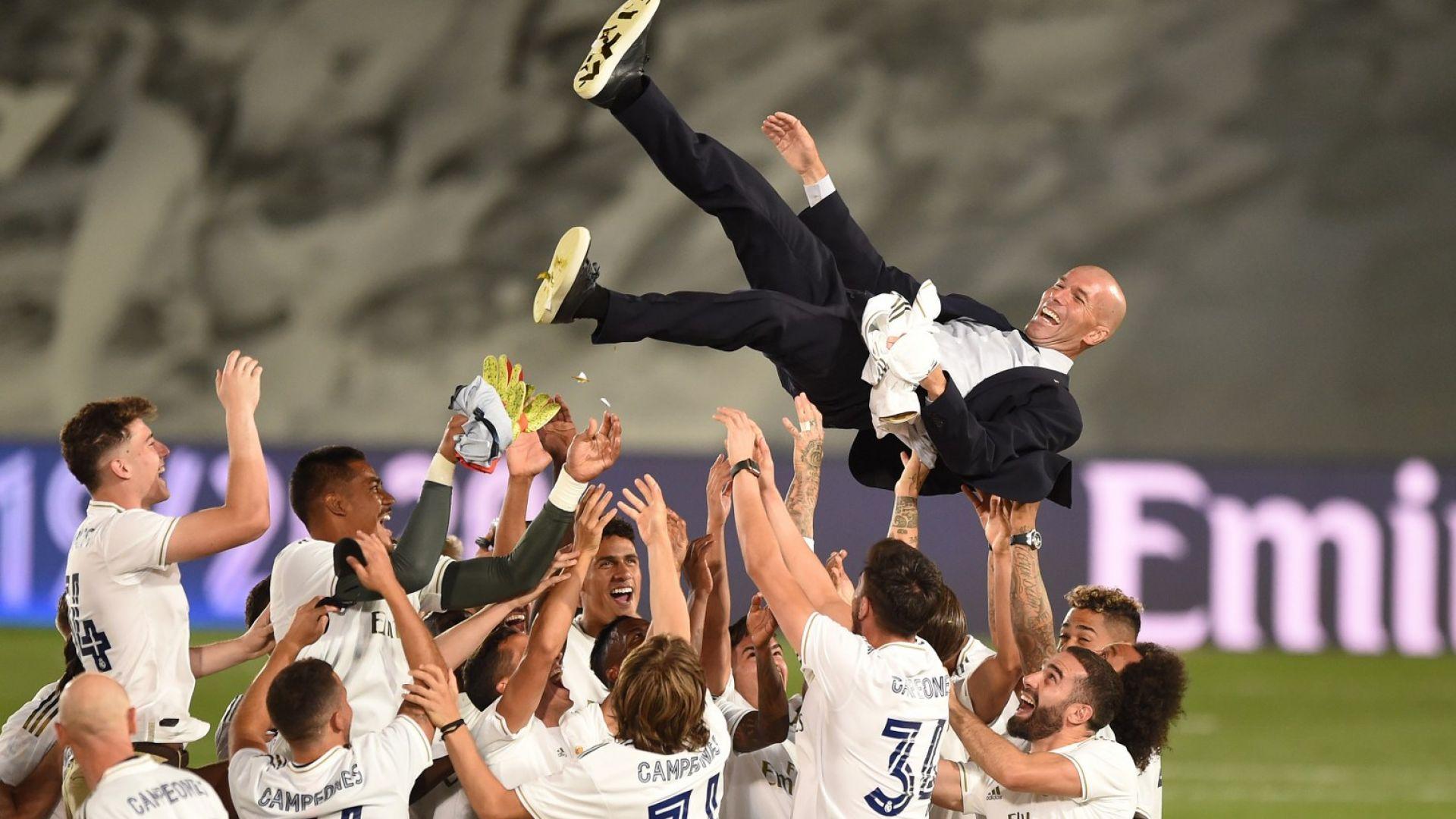 Флорентино Перес след триумфа: Зидан е небесна благословия