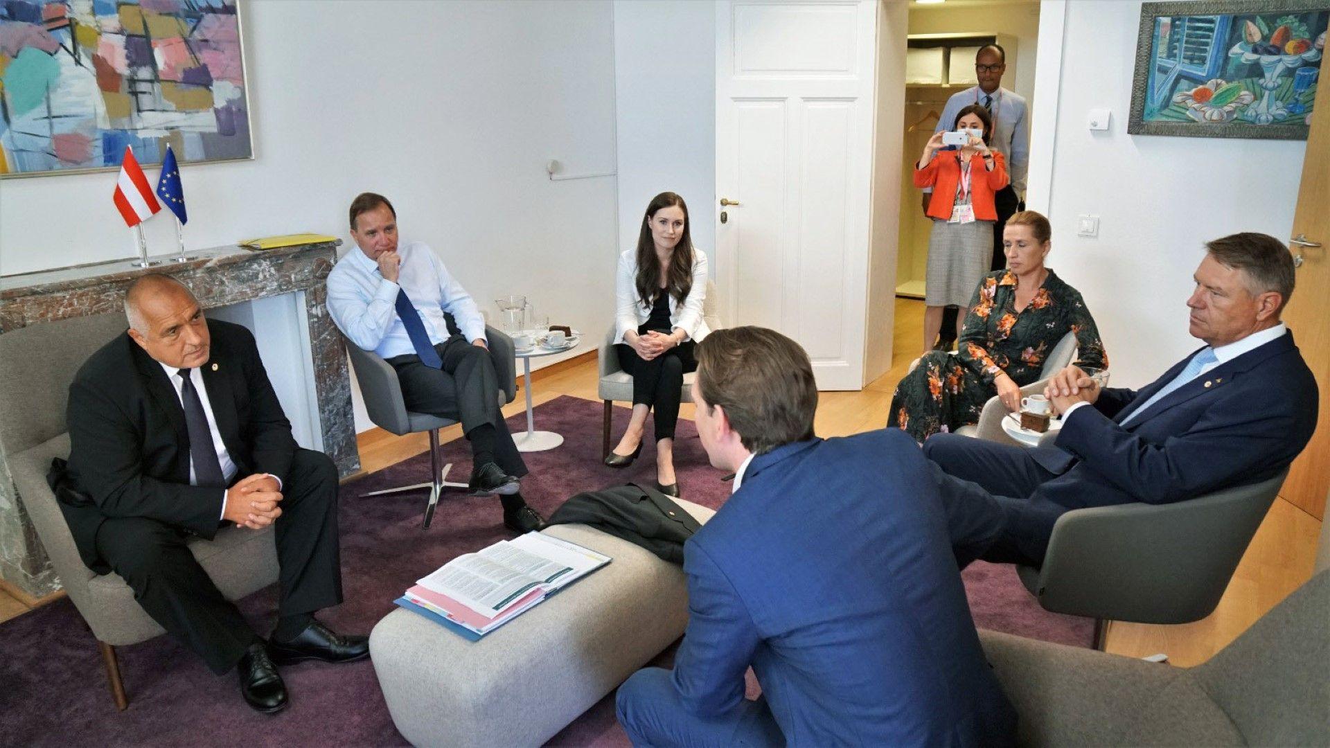 """Борисов се срещна с лидерите на """"пестеливата четворка"""": какво им каза"""