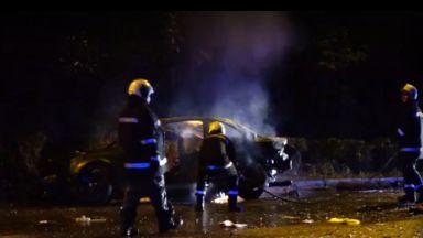 Тежка катастрофа с три коли след дрифт в Горна Оряховица (снимки и видео)