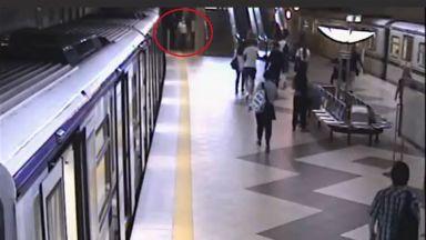 Пуснаха запис от саботажа в метрото (видео)