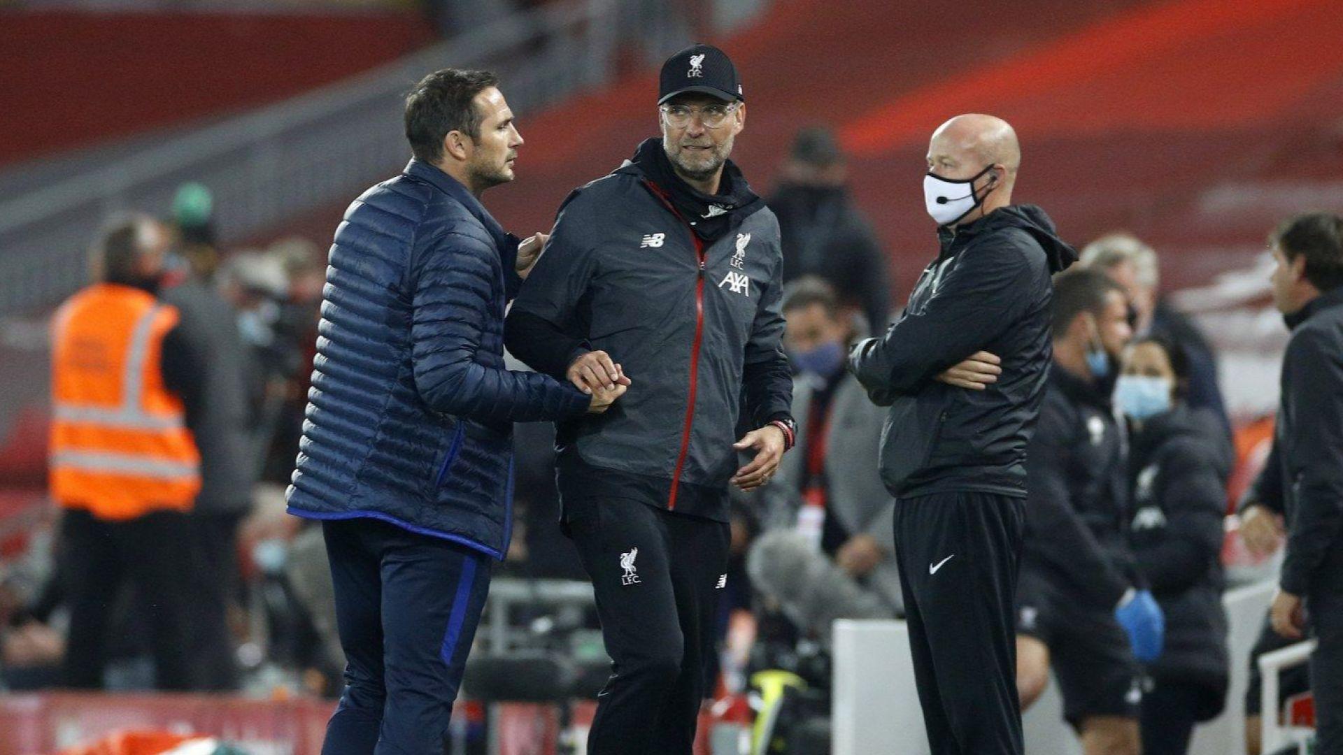 Челси се застъпи за Лампард след псувните по адрес на Клоп