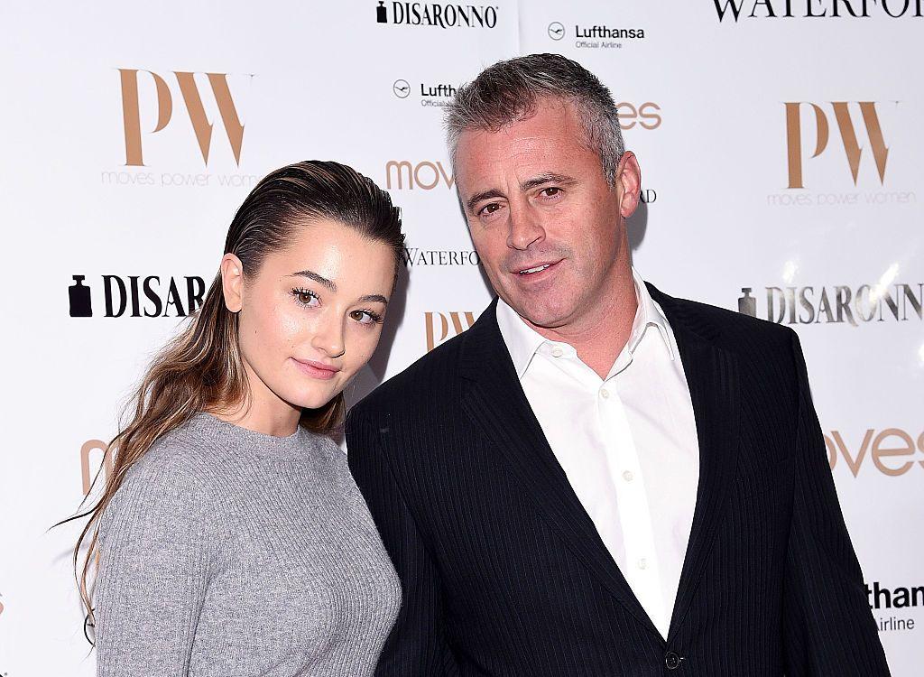 Мат ЛеБланк с дъщеря си Марина