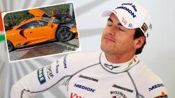 Бивш пилот от Формула 1 разби суперавтомобил за над  $ 1 млн. в уличен стълб