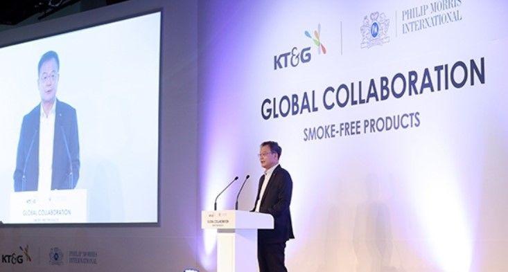Изпълнителният директор на KT&G Баек Бок обяви целта на компанията да излезе на 180 пазара с бездимните си продукти