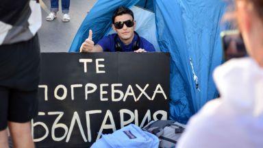 26-и ден на протести: Втора гладна стачка, палатков лагер и във Варна (снимки)