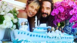 Хайди Клум и Том Каулиц отпразнуваха своята първа годишнина от сватбата (снимки)