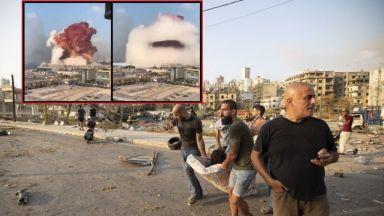 Мощен взривове разтърси Бейрут, вижте видео от момента на едната експлозия