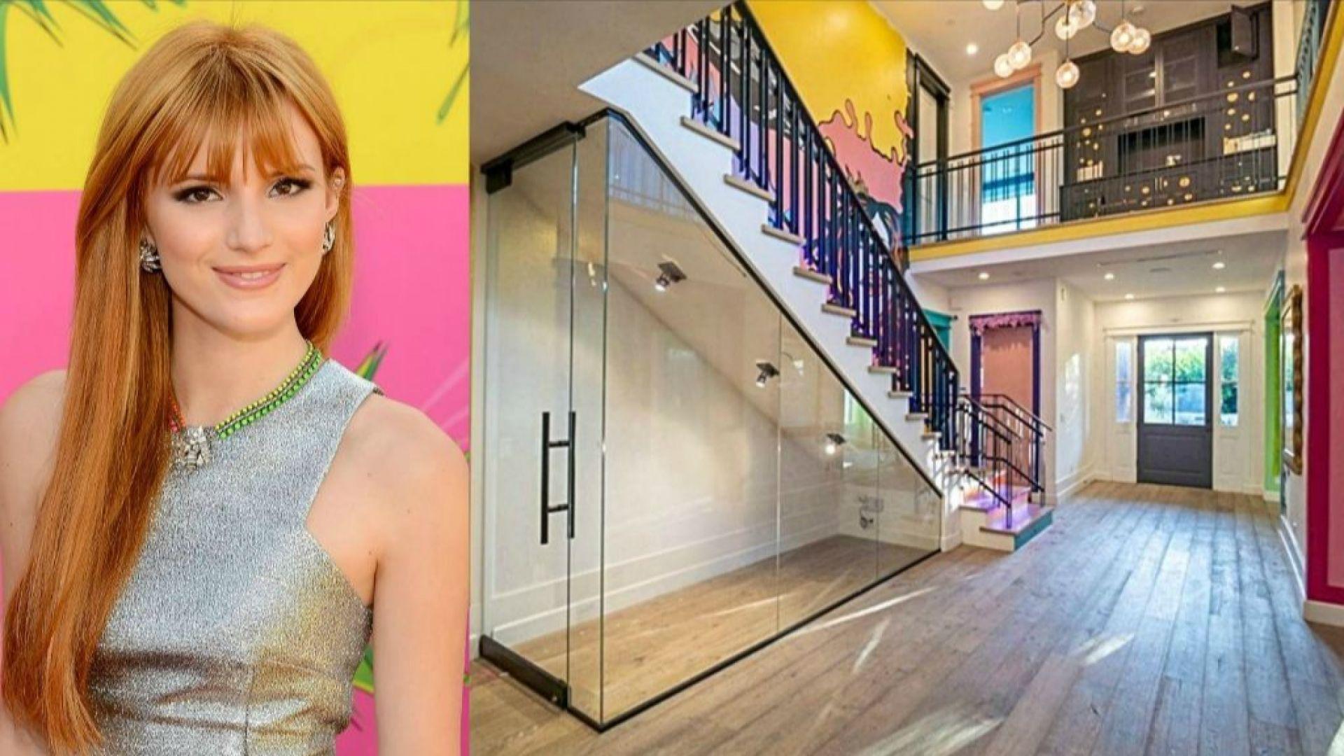 Вижте отвътре розовата къща, която Бела Торн продава за 2.55 млн. долара
