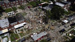 Експлозия срина няколко къщи в американския град Балтимор (видео)