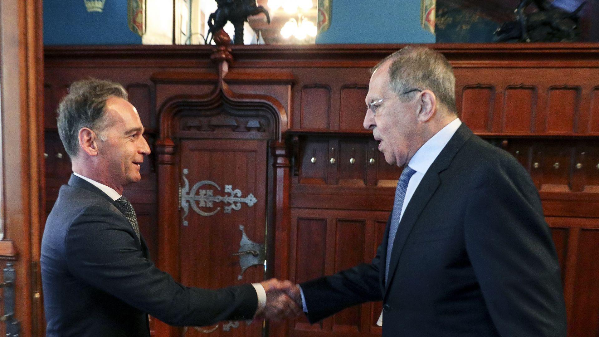 """Хайко Маас в Москва: САЩ грешат със санкциите срещу """"Северен поток-2"""""""