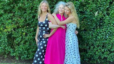 Времето в три поколения жени: Гуинет Полтроу с майка си и дъщеря си