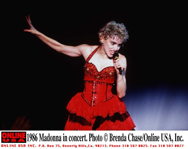 Мадона по време на концерт, 1986 г.
