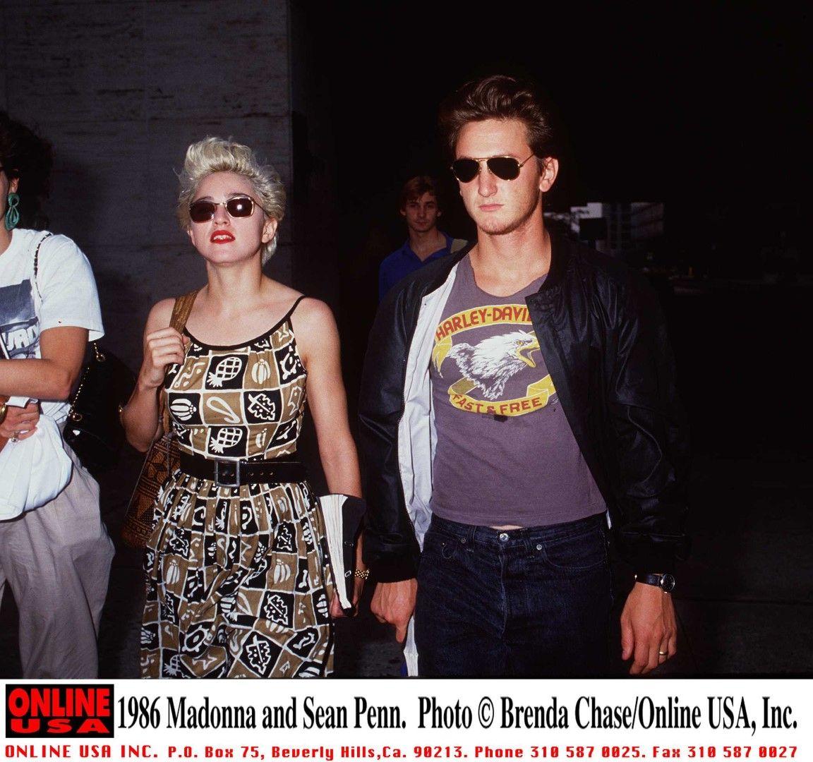Мадона и Шон Пен през 1986 г.