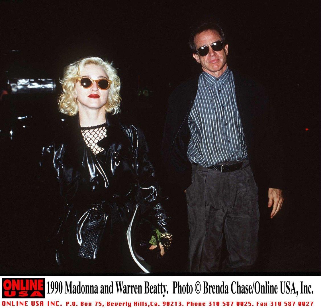 Мадона и Уорън Бийти, 1990 г.