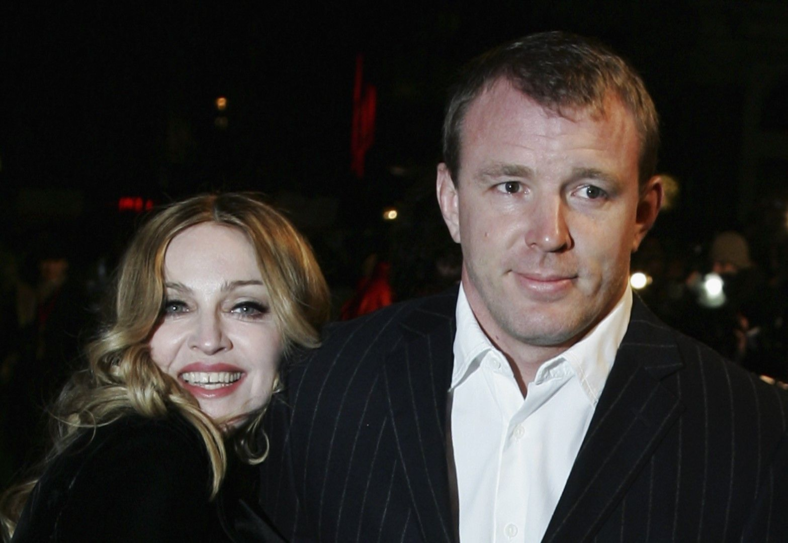 """Мадона и Гай Ричи на премиерата на филма """"Артур и минимоите"""" на Люк Бесон, Лондон, 2007 г."""