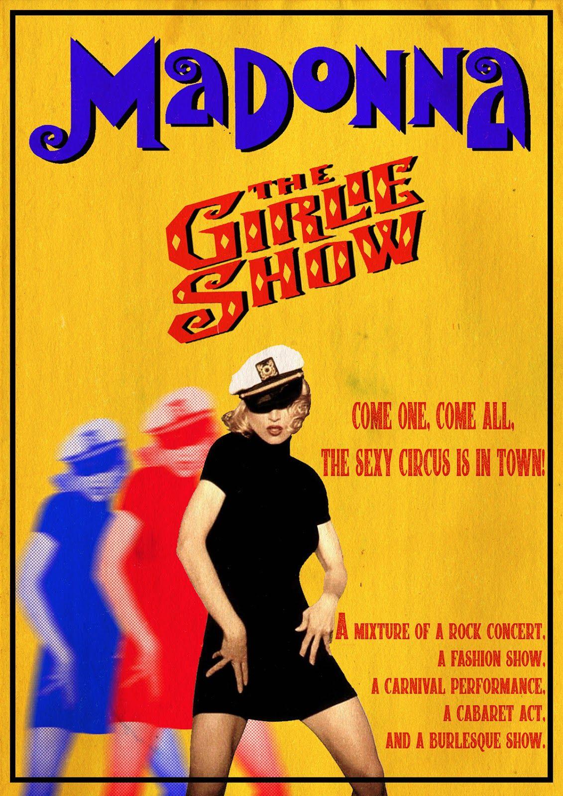 Постер от турнето на Мадона The Girlie Show през 1993 г.