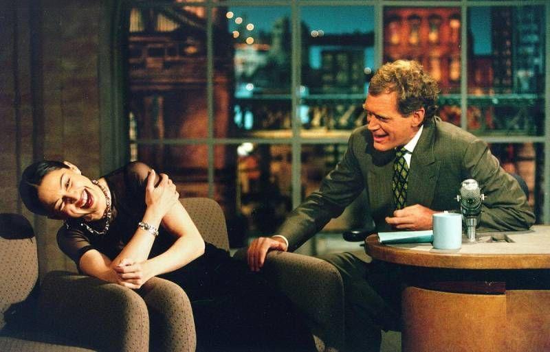 """Мадона гостува в """"Късното шоу на Дейвид Летърман"""" през 1994 г."""