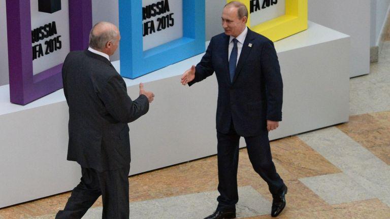 Президентите на Русия и Беларус - Владимир Путин и Александър