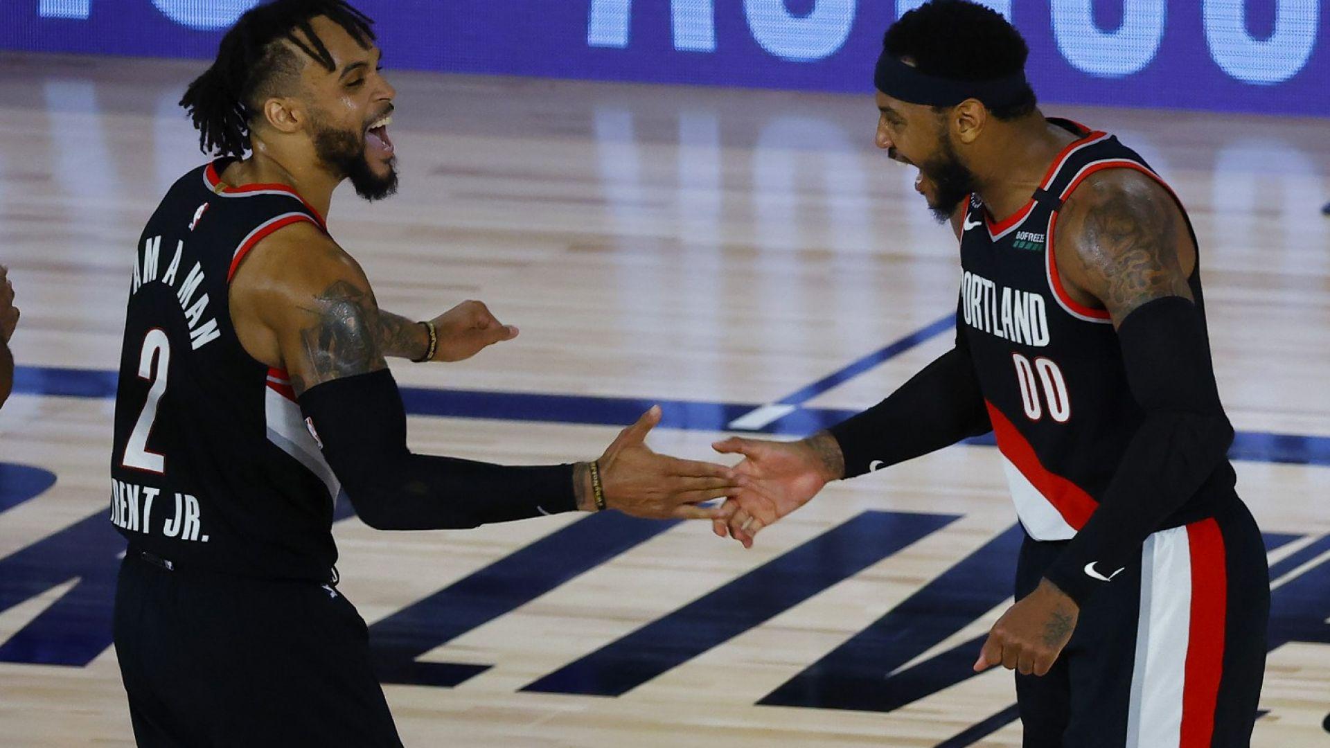 Портланд се докопа до плейофите В НБА