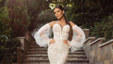 Преслава в булчинска рокля, отрича да се е омъжила