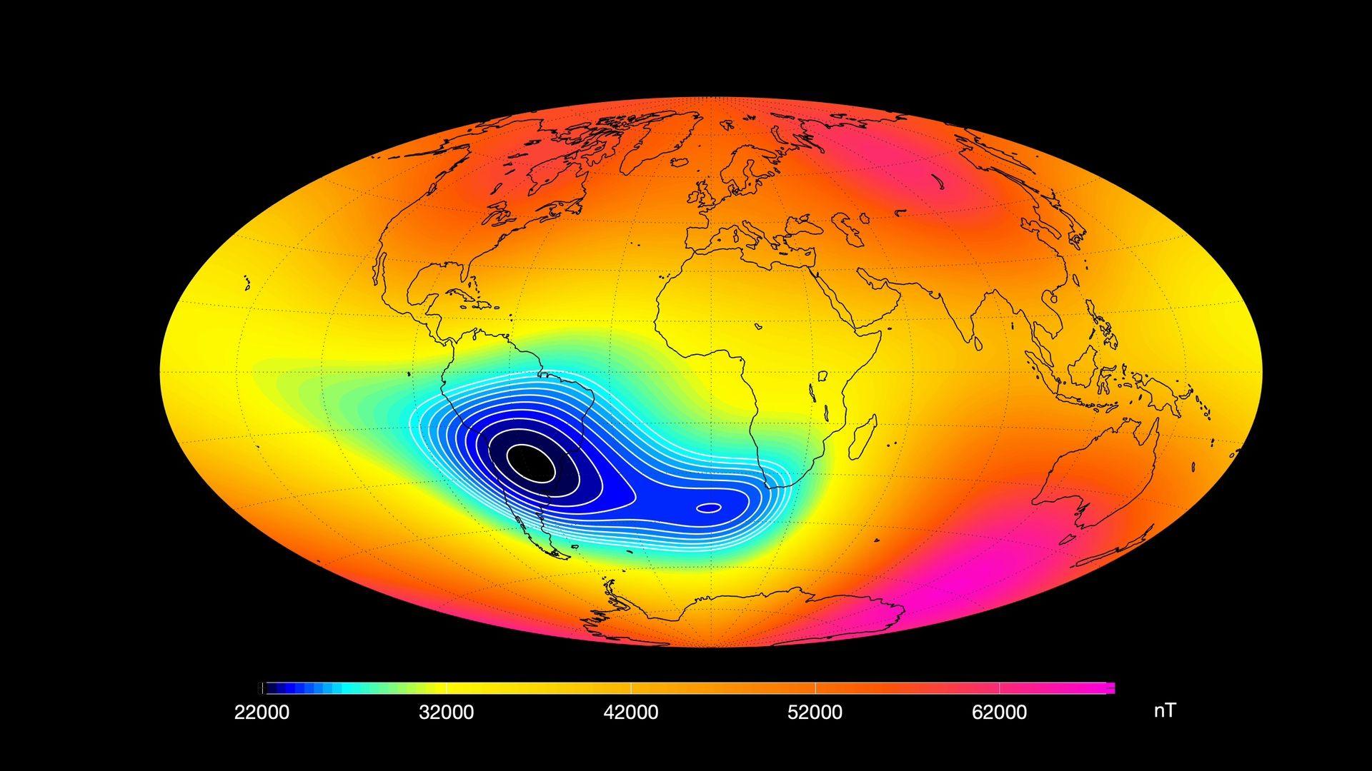 НАСА изследва мистериозното отслабване на магнитното поле на Земята