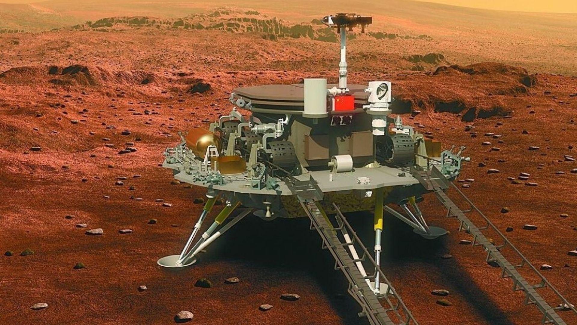 Китайската сонда приближава уверено Марс