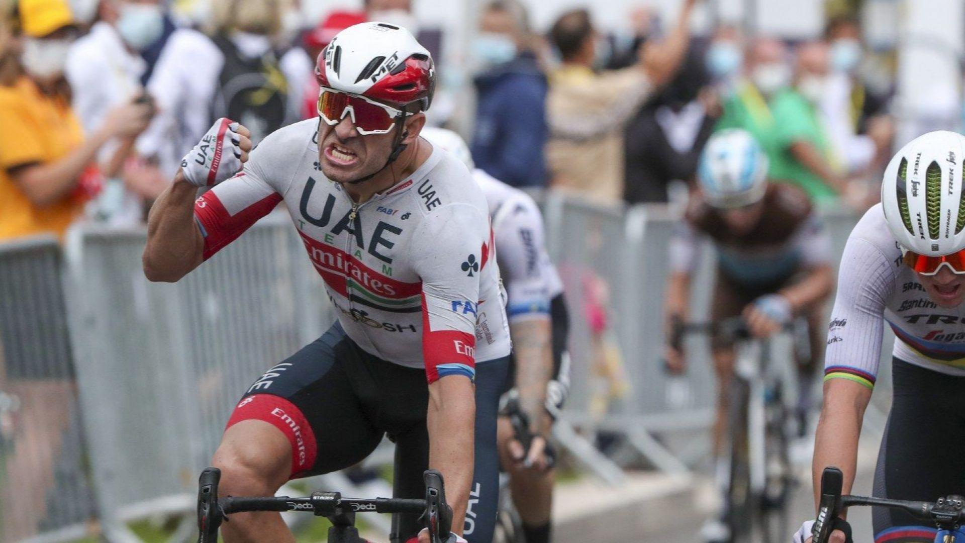 """Проливен дъжд заля началото на """"Тура"""", първият победител е норвежец"""