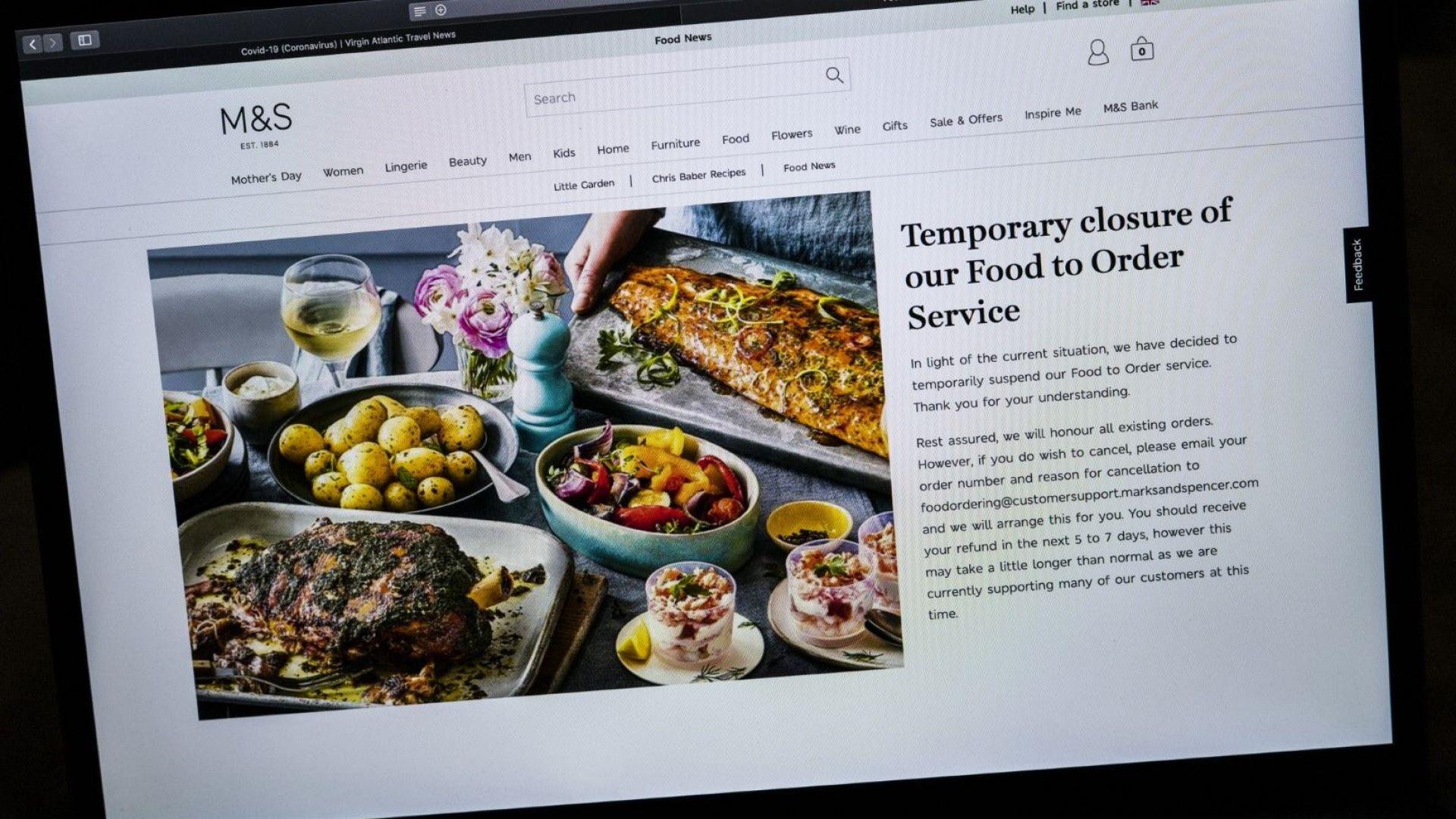 M&S се обръща към доставки на хранителни продукти, за да спре спада