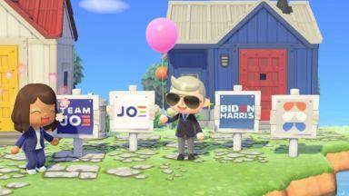Джо Байдън започна да рекламира в играта Animal Crossing