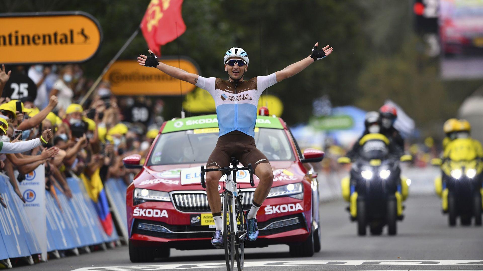 """Домакински успех в първия планински етап на """"Тур дьо Франс"""""""