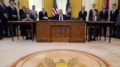 Споразумението между Сърбия и Косово,  постигнато от Тръмп, буди съмнение