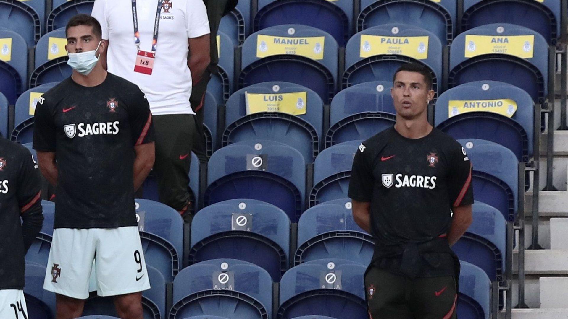 Правилата са за всички: Скараха се на Роналдо, че не носи маска