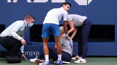 Невероятно: Дисквалифицираха Новак Джокович от US Open