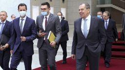 Асад се срещна с Лавров за разширяване на бизнес отношенията с Русия