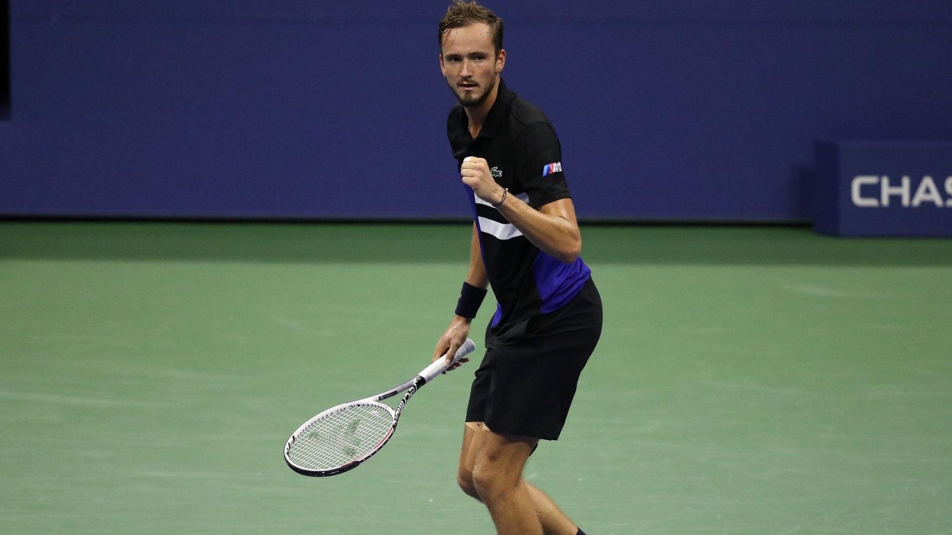 Безкомпромисен Медведев изхвърли американската надежда от US Open