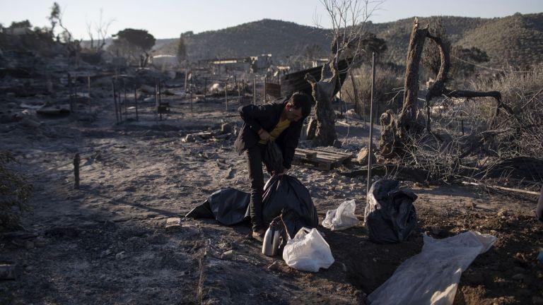 От лагера не остана нищо след пожара