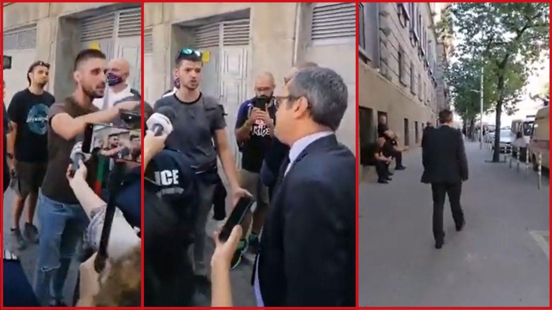 Тома Биков спори очи в очи с протестиращи (видео)