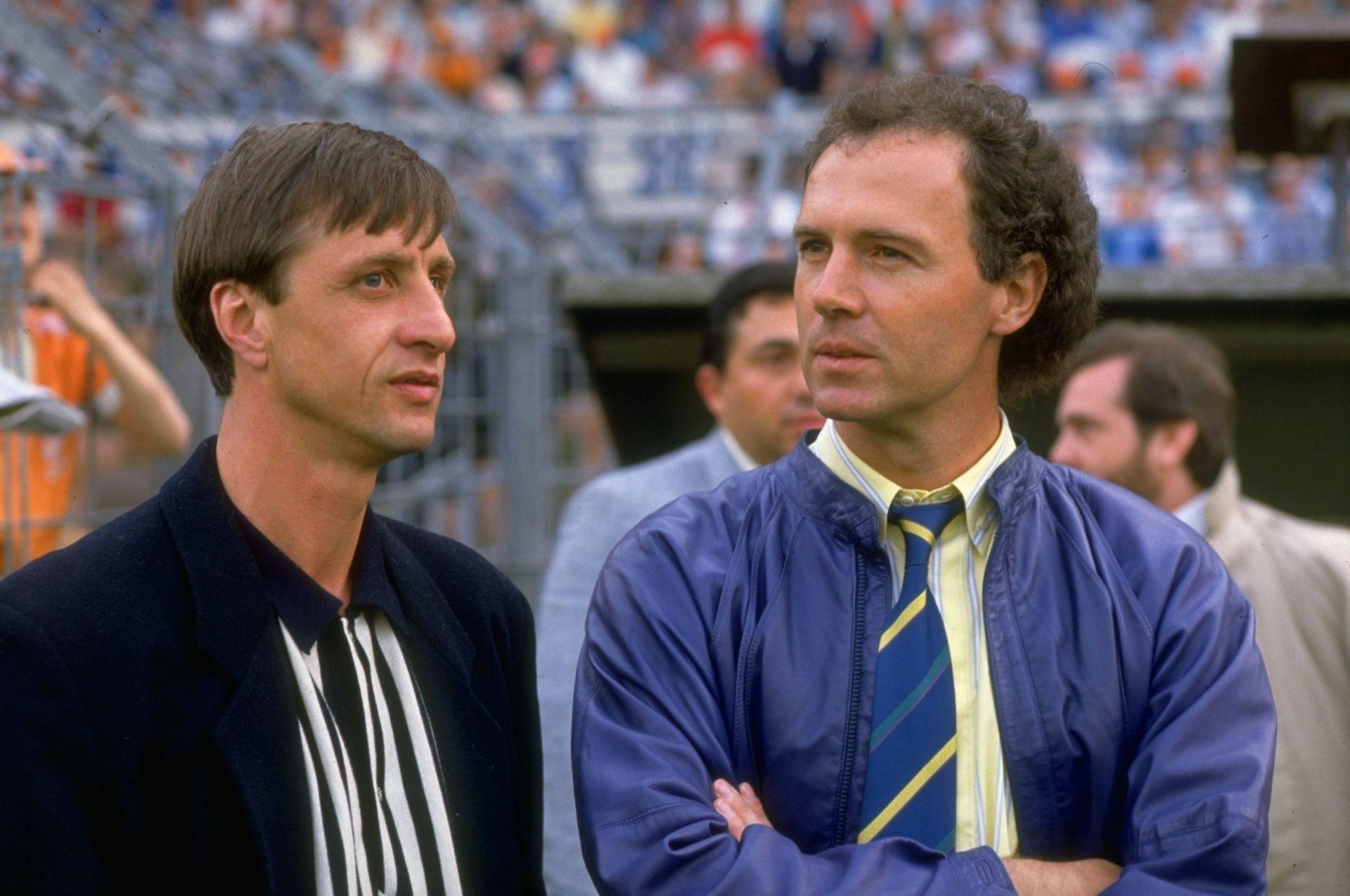 С големия му приятел и съперник на терена - Йохан Кройф