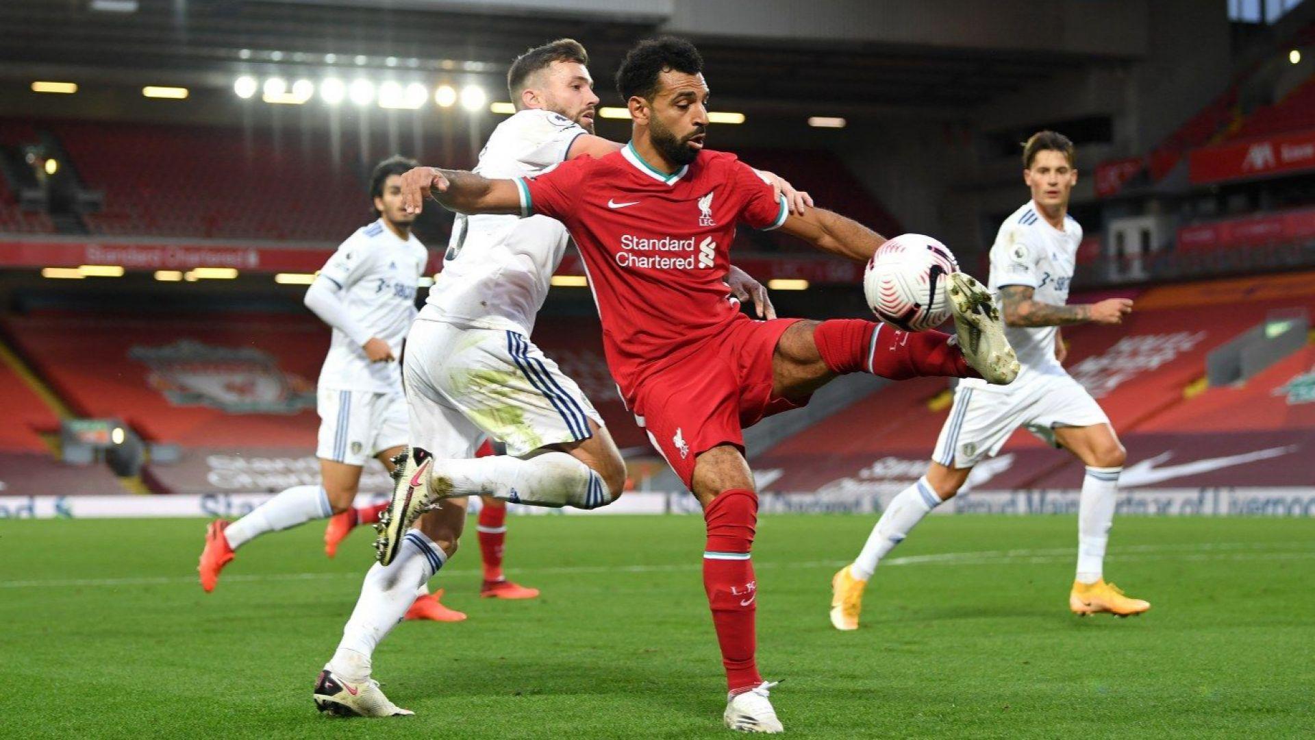 """Лудост на """"Анфийлд"""": Ливърпул пречупи Лийдс в седемголов спектакъл"""