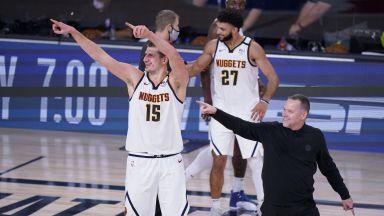 Денвър написа история на плейофните обрати в НБА и скъса сценария за дерби на ЛА