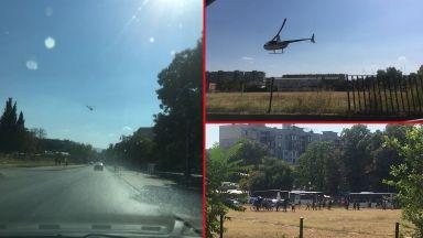 Хеликоптер с новородения Асан Паша кацна на стадиона в Столипиново (видео)