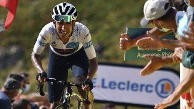 """Шампионът Бернал прекрати защитата на титлата си в """"Тур дьо Франс"""""""